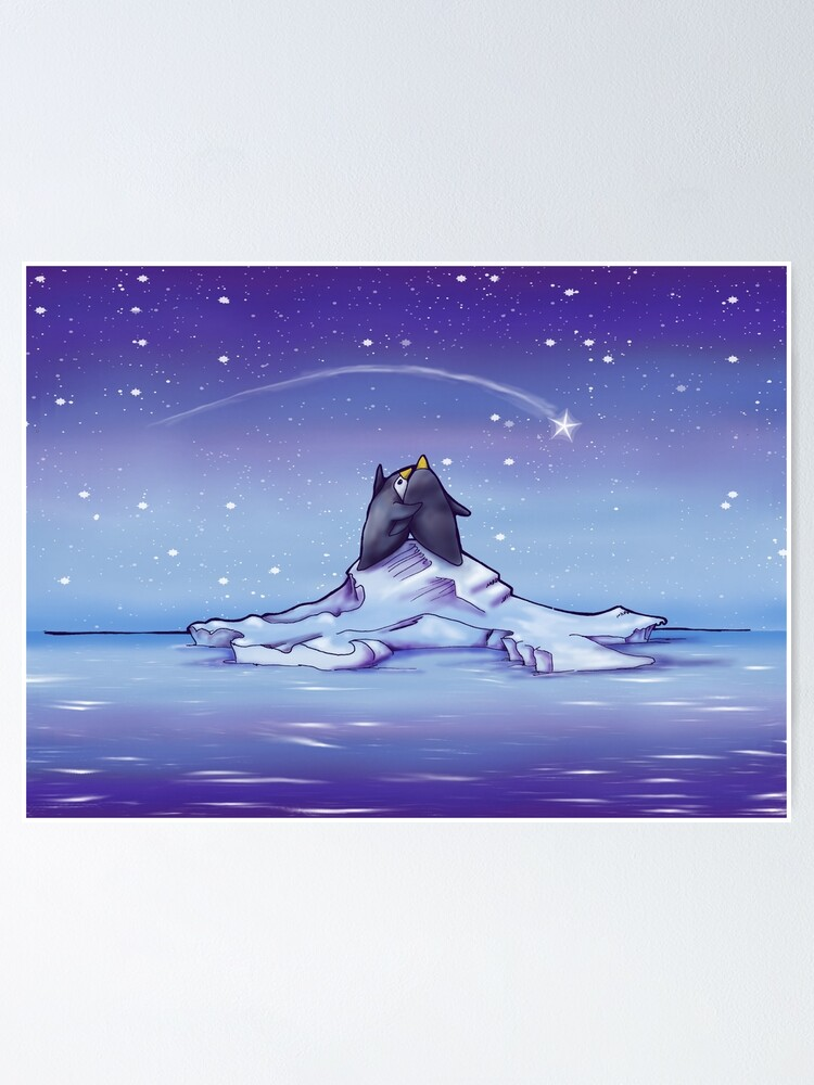 Alternate view of Penguins and Stars Poster