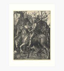 Knight, Death and the Devil (Dürer) Art Print
