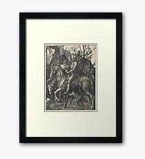 Knight, Death and the Devil (Dürer) Framed Print