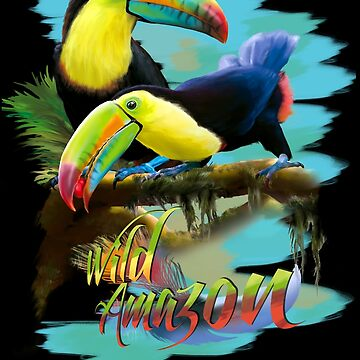 Toucans Wild Amazonas Art Birds by LeoZitro