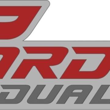 Carducci Dual Sport Logo Red & Grays by CarducciDulSprt