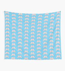 Pink Bow Wall Tapestry