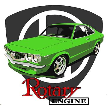 Mazda RX3 Rotary Lime by harrisonformula