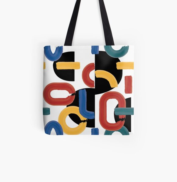 abstract mondrien All Over Print Tote Bag