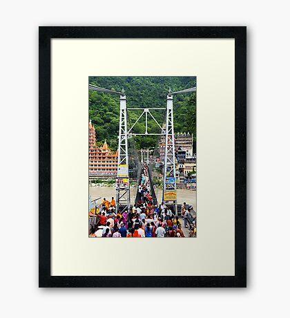 Lakshman Jhula (Hanging bridge) Framed Print