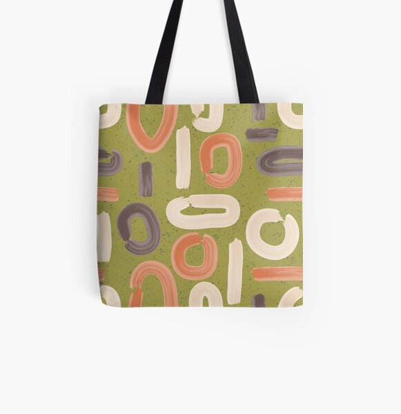 abstract retro All Over Print Tote Bag