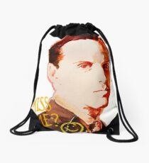 Miss me? - Jim Moriarty Drawstring Bag