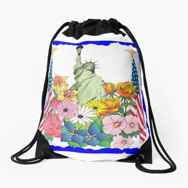 Flowers of Liberty Drawstring Bag