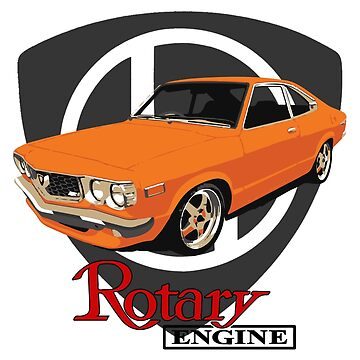 Mazda RX3 Rotary Orange by harrisonformula