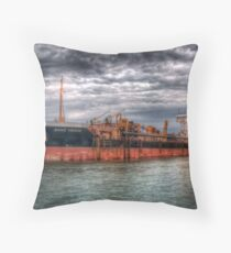 Sand Heron Throw Pillow