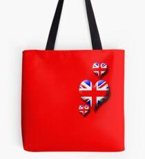 Union Jack - Triple Heart Tote Bag