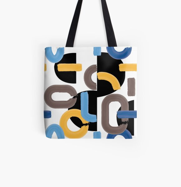 abstract mondrien beach All Over Print Tote Bag