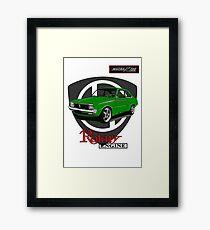 Mazda R100 Rotary Lime Framed Print