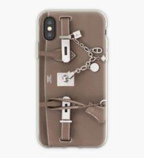 Hermes Silver Kelly Birkin Olga Bag iPhone Case