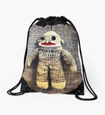 Sock Monkey Drawstring Bag