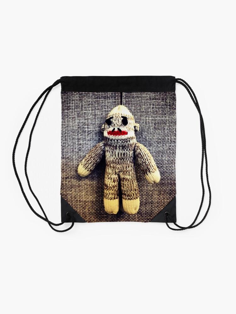 Alternate view of Sock Monkey Drawstring Bag