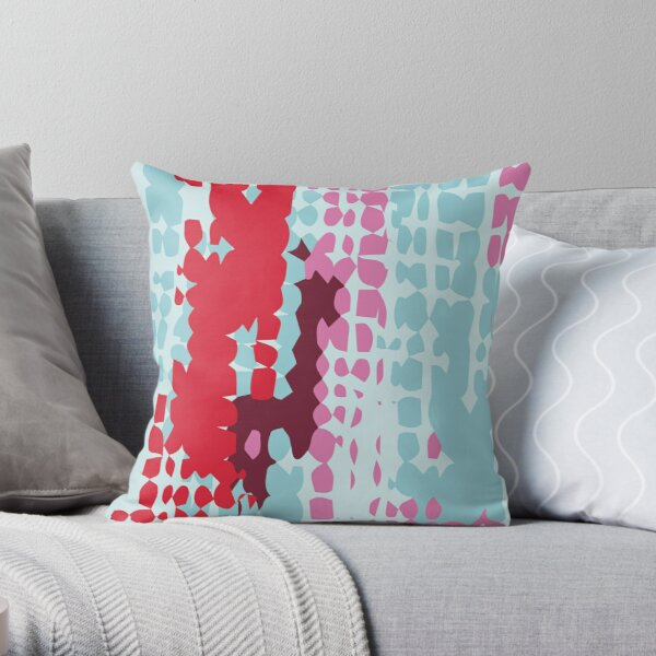Mosaic Waterfall Throw Pillow