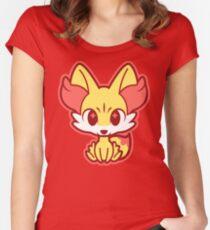 Chibi Fennekin Women's Fitted Scoop T-Shirt