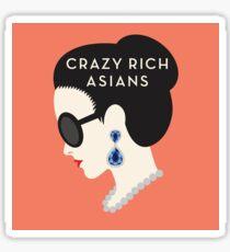 Crazy Rich Asians Book Cover Image  Sticker