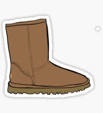 Basic is Basic Boots Sticker