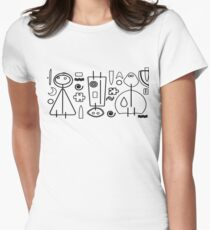 Children - black design Women's Fitted T-Shirt