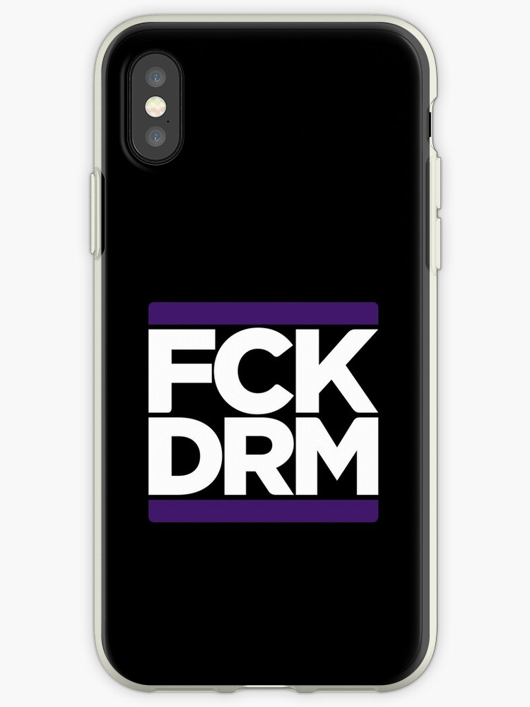 'FCK DRM' iPhone Case by ChevDesign