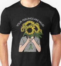 Your Feelings Are Valid Sunflower Mental Health Awareness Shirt Unisex T-Shirt