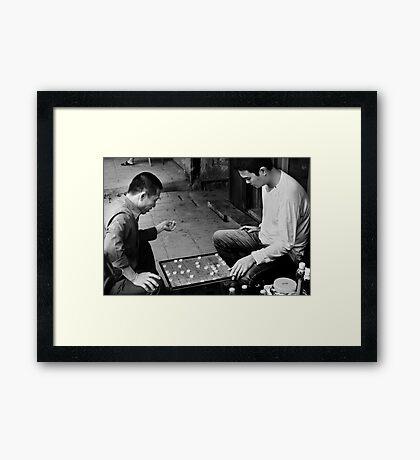 Xiangqi Battle - Hanoi, Vietnam Framed Print