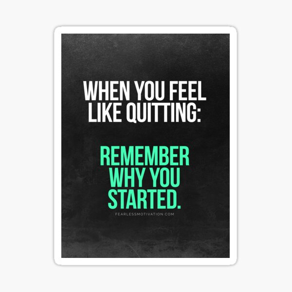 Remember Why You Started. Sticker