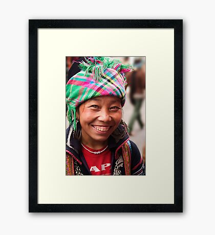 Black Hmong Smile - Sapa, Vietnam Framed Print