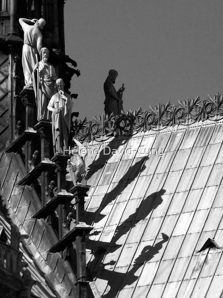 Shadow of the giants - b&w by Hélène David-Cuny