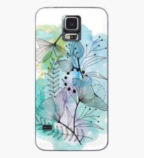 Blumen-Spritzen-Farbaquarell-Hand gezeichnete Illustration Hülle & Klebefolie für Samsung Galaxy