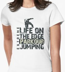 Parkour Jumping Women's Fitted T-Shirt