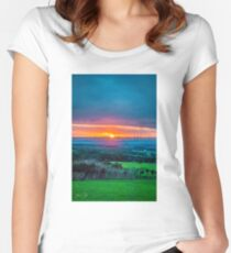 Dreamy Sunset Fitted Scoop T-Shirt