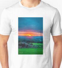 Dreamy Sunset Slim Fit T-Shirt