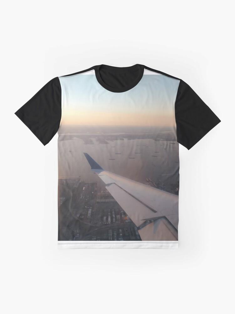 Alternate view of Flight, #flight, view, #view, New York, #NewYork, New York City, #NewYorkCity Graphic T-Shirt