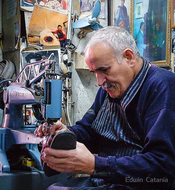 FREDDIE THE COBBLER -- RABAT --- MALTA by Edwin  Catania