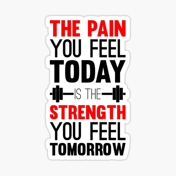 pain you feel today Sticker