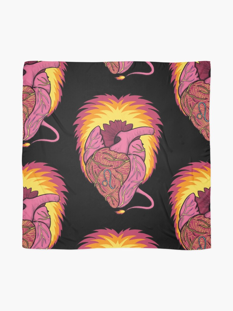 Alternate view of Leo Heart Scarf