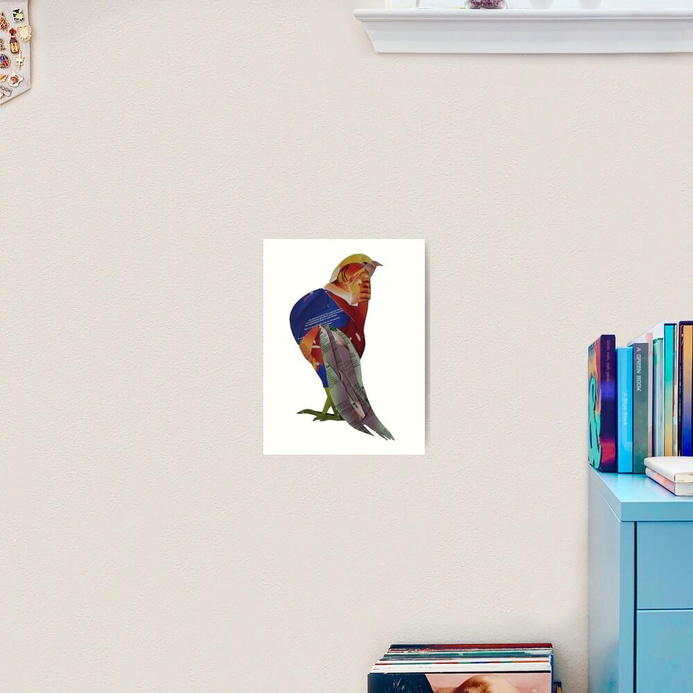 Striding Pheasant Art Print