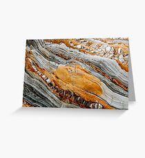 Geological waves Greeting Card