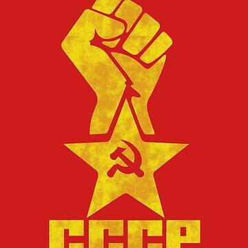 CCCP - Star Fist Yellow by GR8DZINE