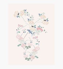 Small floral - beige Photographic Print