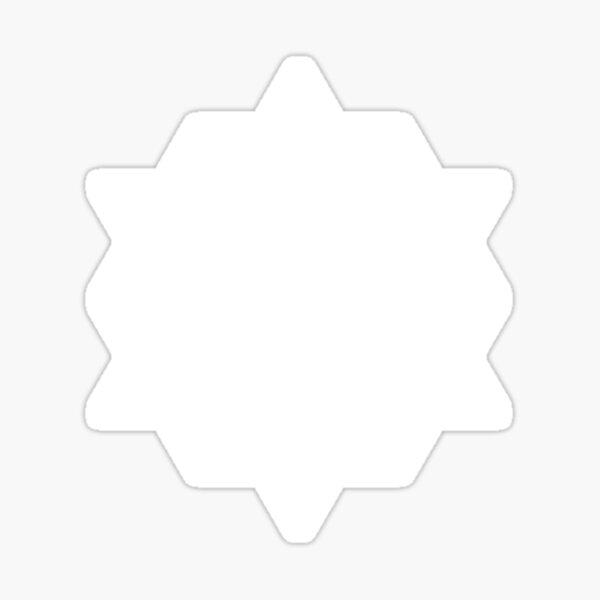 64 Star tetrahedron on black Sticker