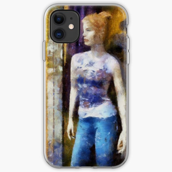Redhead in Blue Jeans iPhone Soft Case