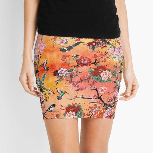 Chinese Private Garden Mini Skirt