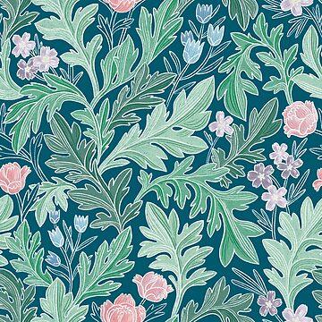 Victorian vintage floral pattern by stolenpencil