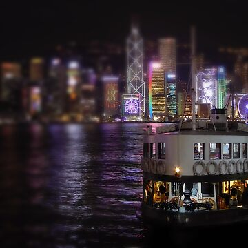 HK - Victoria Harbour at night by john76