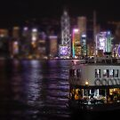 HK - Victoria Harbour at night by The Aloof