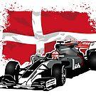 Formula 1 - Magnussen - Haas F1 Team - Denmark Flag  by Port-Stevens
